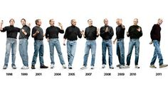The Evolution of Steve Jobs' ClothingYou can find Steve jobs and more on our website.The Evolution of Steve Jobs' Clothing Turtleneck Shirt, Black Turtleneck, Apple Steve Jobs, Evolution Of Fashion, Work Uniforms, Fashion Fail, Fashion Men, Job S, Skinny