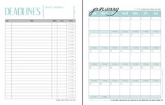 A FREE printable calendar at elisapulliam.com, especially for idea slinging, social media using, multitasking, writer girls like you...and everyone in between!
