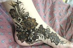 Floral Beads Mehndi 25 Fabulous Foot Mehndi Designs for Your Next Event