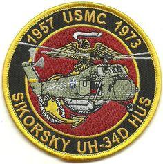 USMC Sikorsky UH-34D HUS 1957-1973 Patch