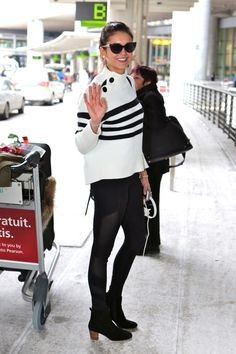 Nina Dobrev - Arriving all smiley at Pearson International Airport
