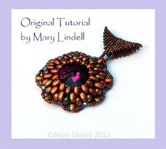 Beading Tutorial  Crystal Pendant made with door MarysArtisanJewelry