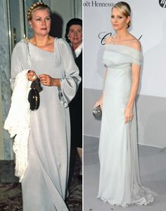 Princess Grace Kelly of Monaco and her daughter-in-law Princess Charlene of Monaco