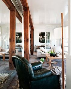 Wooden beams, white walls and dark floor…  tumblr_m6h9x2rxDi1qb83abo1_1280.jpg 600×750 pixels
