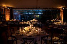 Chicago Botanic Garden, tented wedding reception: A Chicago wedding venue. -Steve Koo Photography. See more wedding venues at https://stevekoophotography.com