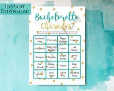 Bachelorette Charades Bachelorette Party Games Printable | Etsy