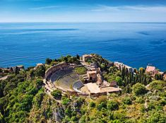 The ancient theatre in Taormina, Sicily