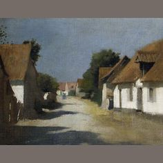 Sir George Clausen, RA, RWS (British, 1852-1944) A sunny village street, France Sold for £1,560 inc. premium