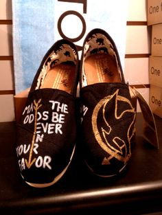 Youth Size Hunger Games Custom TOMS by UniquelySouledDesign, $74.00