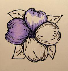 Kendra's Card Company: Pretty Purple Flowers ~ Spectrum Noir/Gina K Tutorial