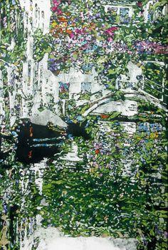 """Venice in bloom, Rio della Eremite venice 32"""" x 22"""" micheal zarowsky / watercolour on arches paper / available $2200.00"""
