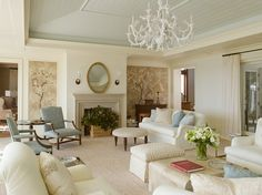 #French #Coastal Living Room
