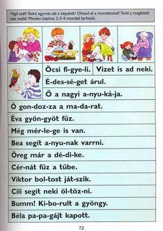 KÉP ÉS MONDAT EGYEZTETÉSE - webtanitoneni.lapunk.hu Reading Activities, Monet, Album, School, Teaching Ideas, Play, First Class, Schools