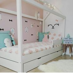 """98 Likes, 8 Comments - MANOWOODS (@manowoods.nl) on Instagram: """"I love this girly room. Dit bedje is toch wel DE favoriet op het moment.  Bedankt voor de mooie…"""""""