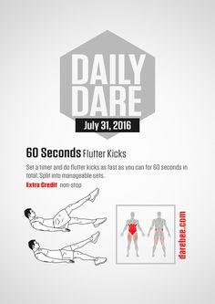 [ DD - 31 July 2016 ] 60 Seconds Flutter Kicks - The Hive