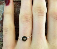 Brass Initial Ring