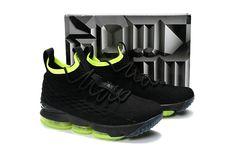 info for f4512 9f138 2018 Real Basketball Shoe LBJ XV Nike LeBron 15 KITH x Black-fluorescent  green