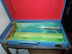 An organizer's dream come true. Vintage set of 4 Multi Color Bakelite Mah Jong Trays with Case by Ourvintagestyle, $30.00