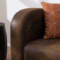Sofa Tullow (3-Sitzer) - Antiklederoptik Braun