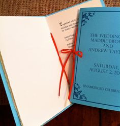 Invitations that are basically little handmade books.