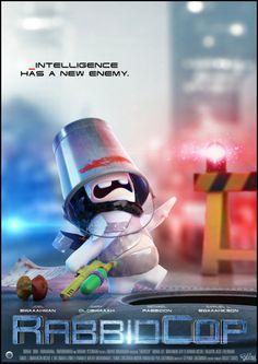 RabbidCop has the future under control! #Robocop #Movieposter #Poster