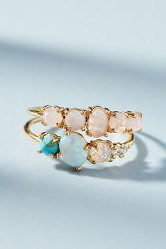 Slide View: 6: Rosaline Ring Set