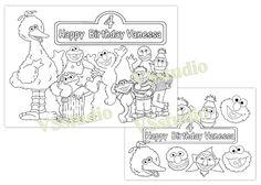 Sesame Street Personalized Birthday Party Printable by VSstudio