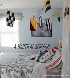 decorating with signal flags  frame charts or hang vintage pennants???