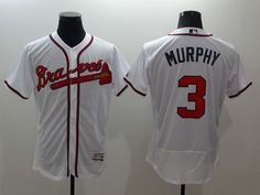 Braves  3 Dale Murphy White Flexbase Authentic Collection Stitched MLB  Jersey fecb6fd4a