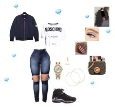 """""""Diamonds Dancing"""" by queen-miarose ❤ liked on Polyvore featuring NIKE, Moschino, Rolex, Forever 21 and H&M"""