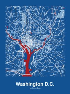 Washington, D.C., USA Map Print