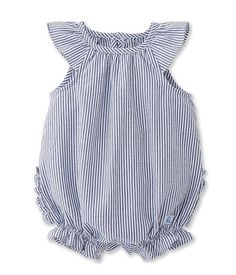 Combibloomer baby girl in striped seersucker (Petit Bateau) Boys And Girls Clothes, Cute Baby Clothes, Baby Clothes Shops, Toddler Outfits, Boy Outfits, Toddler Dress, Baby Dress Patterns, Baby Girl Dresses, Baby Sewing