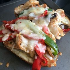 chicken, peppers
