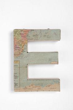 around the world map letter - E $12