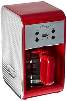 Sensio 14552 Bella 12 Cup Programmable Coffee Maker Red >>> Click image to review more details.-It is an affiliate link to Amazon. #CoffeeMachine