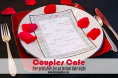 Couples Cafe - Date night at home and lots of other cool ideas