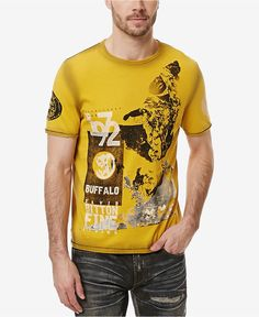 Buffalo David Bitton Men's Graphic-Print T-Shirt - T-Shirts - Men - Macy's