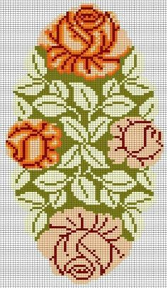 Hand Embroidery Patterns, Cross Stitch Patterns, Cross Stitch Flowers, Filet Crochet, Cross Stitching, Crochet Projects, Beads, Rose, Cross Stitch Borders