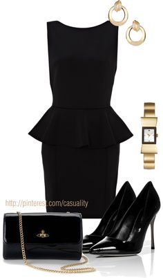 """Black on Black Business"" by casuality on Polyvore"