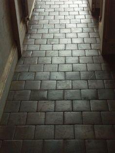 So interesting. Alternative to tiles, solid wood end grain oak blocks