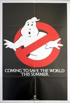 Ghostbusters Text Teaser, 1984 - original vintage teaser movie poster for the comedy adventure film Ghost Busters starring Bill Murray, Dan Aykroyd, Sigourney Weaver and Rick Moranis, listed on AntikBar.co.uk #Ghostbusters
