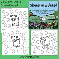 Sheep in a Jeep - A Language/Literacy Book... by GoldCountrySLP   Teachers Pay Teachers