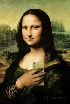 Mona Lisa Selfie Portrait Prints at AllPosters.com
