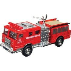Toysmith Pullback Toy Fire Engine Die Cast Two assorted styles. Fire engine just pull back, release, and off they go! feature moving parts and fine detailing. Fire Engine Toy, Baby Bach, Sand Play, Comic Games, Kids Gifts, Fire Trucks, Trauma, Vintage Toys, Diecast