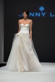Jenny Lee, Bridal Fashion Week, Fall 2015, October 2014 #wedding #dress
