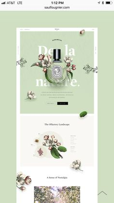 Website for perfume with interesting layout, feminine floral design Layout Design, Layout Web, Graphisches Design, Website Design Layout, Page Design, Banner Design, Creative Design, Floral Design, Website Design Inspiration