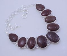 free shipping F-140 Stunning Jasper .925 Silver Handmade Jewelry Necklace by SILVERHUT on Etsy