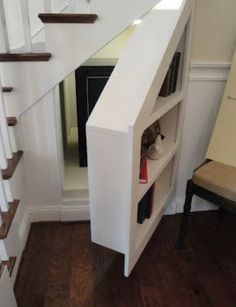 7 stunning under stairs storage ideas: home decor, shelving ideas, stairs, storage ideas, why not use your under the stair storage for storage and a hidden panic room Hidden Spaces, Small Spaces, Secret Rooms, Hidden Storage, Pantry Storage, Hidden Shelf, Extra Storage, Secret Storage, Understairs Storage Ideas