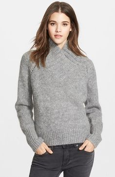 Burberry Brit Stand Collar Sweater available at #Nordstrom