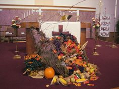 Thanksgiving+church+decorations